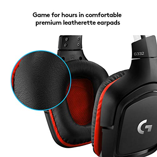 41t5FCcccbL - Logitech G332 Stereo Gaming Headset 6 mm Flip-to-Mute Mic for PlayStation 4, Xbox One and Nintendo Switch