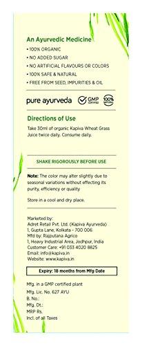 Kapiva Wheat Grass Juice - 1 L - Ayurvedic Superfood 6
