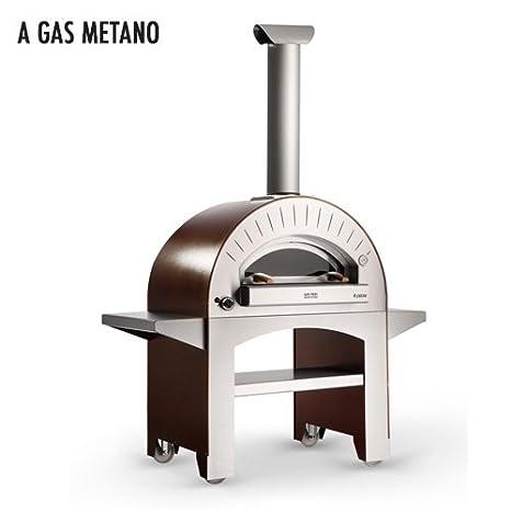 Forno A Gas Metano Da Esterno In Acciaio Alfa Pizza 4 Pizze