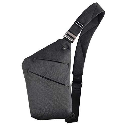 OSOCE Sling Chest Bag Cross Body Shoulder Backpack Anti Theft Travel Bags Daypack for Men Women(Dark Grey)