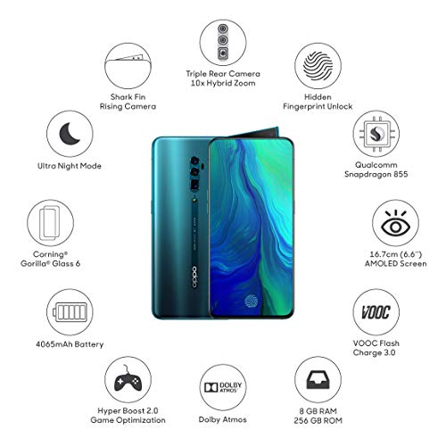 41tAoqV x6L - (Renewed) OPPO Reno 10x Zoom (Ocean Green, 8GB RAM, 256 GB Storage) with No Cost EMI/Additional Exchange Offers