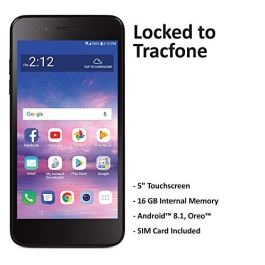Tracfone Carrier-Locked LG Rebel 4 4G LTE Prepaid Smartphone – Black – 16GB – Sim Card Included – CDMA