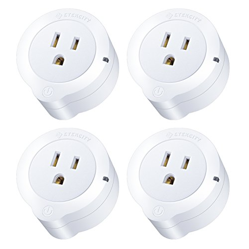 Etekcity Smart Plug, Works with Alexa, Google Home and IFTTT, WiFi Energy Monitoring Mini Outlet with Timer (4-Pack), No Hub Required, ETL Listed, White, 2 Years Warranty and Lifetime Support