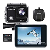 MOUNTDOG Action Camera 4K/16MP Underwater Waterproof 30M Camera with 2' LCD Wide Angle View, 1080P Full HD Sport Camcorder with 10M WiFi Wireless Control and Portable Camera Bag