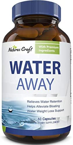 Water Away Diuretic Supplement with Dandelion Leaf – Bloat Relief Pills Weight Loss Relieve Swelling Water Retention – Natural Green Tea Extract Potassium Vitamin B6 for Men & Women 4