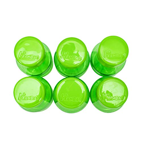 41tJocSRJUL - HANBAO Plastic Water Bottle, 250ML, Set of 6, Green