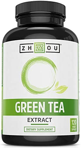 Green Tea Extract Supplement with EGCG for Healthy Weight Support- Metabolism, Energy and Healthy Heart Formula - Gentle Caffeine Source - Antioxidant & Free Radical Scavenger - 120 Veggie Capsules 1