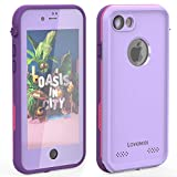 LOVE BEIDI iPhone 8 7 Waterproof Case Cover Built-in Screen Protector Fully Sealed Life Shockproof Snowproof Underwater Protective Cases for iPhone 8 7-4.7' (Purple/Rose/Orchid)