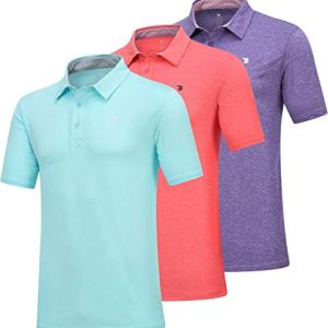 JINSHI Men's Athletic Loose Performance Fit Short Sleeve Classic Golf Polo Shirt 15 Fashion Online Shop Gifts for her Gifts for him womens full figure