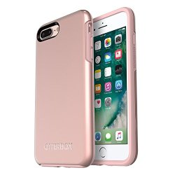 OtterBox SYMMETRY SERIES Case for iPhone 8 Plus & iPhone 7 Plus (ONLY) - Retail Packaging - ROSE GOLD (PALE PINK/ROSE GOLD GRAPHIC)