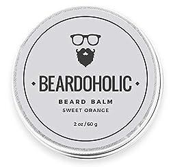 BEARDOHOLIC Beard Balm - Sweet Orange, 100% Organic with Extra Hold for Styling and Shaping Your Beard with Ease, Eliminates Itch and Dandruff  Image 1