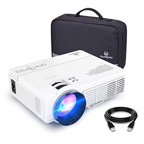 VANKYO LEISURE 3 Mini Projector, Full HD 1080P and 170'' Display Supported, 2400 Lux Portable Movie Projector with 40,000 Hrs LED Lamp Life, Compatible with TV Stick, PS4, HDMI, VGA, TF, AV and USB
