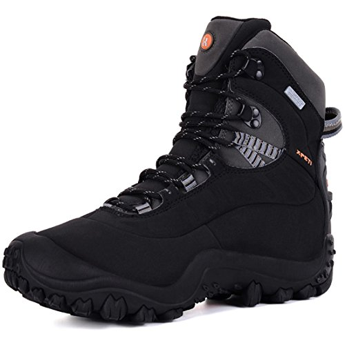 XPETI Men's Thermator Mid-Rise Waterproof Hiking Boot Trekking Multifunctional Outdoor Boots Black 13