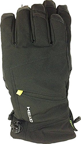 Head Men's DuPont Sorona Insulated Ski Glove With Pocket (Black/Lime, Large)