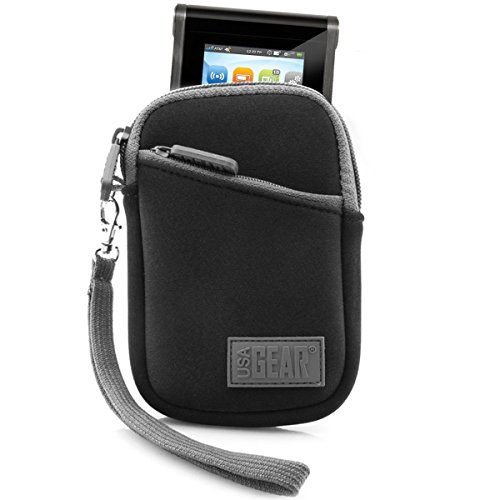 USA Gear Portable Wi-Fi Hotspot Case for Verizon MiFi 6620L / Ellipsis Jetpack, Huawei E5330, AT&T Unite Pro/Velocity, GlocalMe G2 - Protective Sleeve, Belt Loop & Wrist Strap by - Black