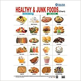 Amazon In Buy Healthy Junk Foods Chart Book Online At Low Prices In India Healthy Junk Foods Chart Reviews Ratings