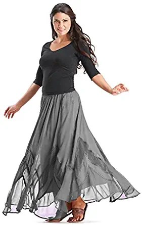 Gray Bohemian Skirt
