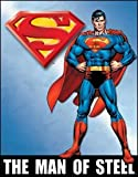 Superman Man of Steel Tin Sign, 12x16