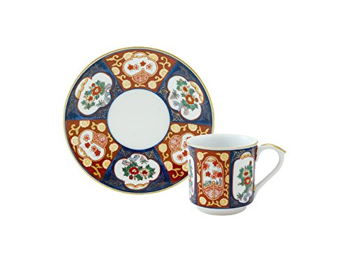 Demitasse cup and Sauser with wooden box Old Imari style phoenix 45027380, Asian, Oriental, Japanese dish plates Traditional Collection/Yamashita Craft
