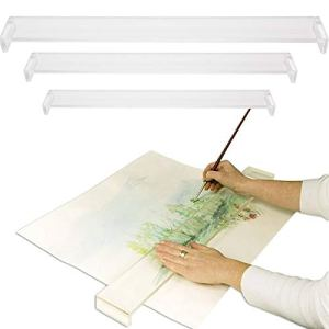 Creative Mark Artist Leaning Bridge Hand and Wrist Leaning Bridge Acrylic Used For Steady Hand Painting, Drawing & Sketching – 18 Inches Clear