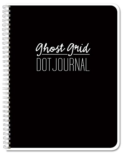 Ghost Grid Dot Journal 120 pages 5.5″ x 8.5″ Wire Binding