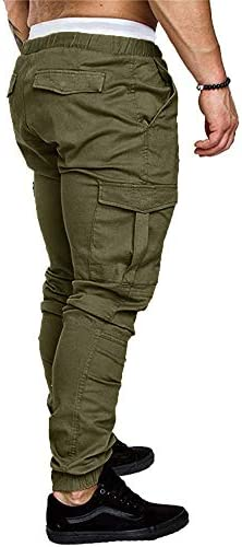 Karlywindow Mens Joggers Sweatpants Stretch Casual Cotton Cargo Pants Workout Sports Track Pants Long Trousers 3