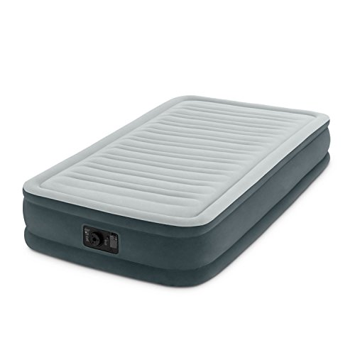 Intex Recreation Comfort Plush Mid Rise Dura-Beam Airbed with Built-in Electric Pump, Bed Height 13