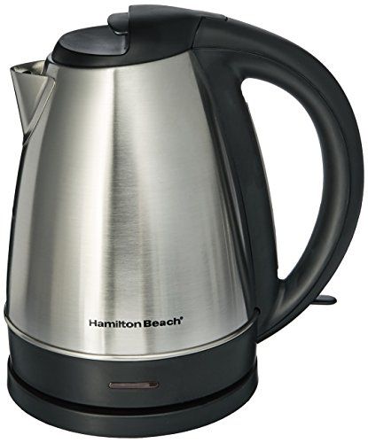 Hamilton Beach 40989 Stainless Steel Electric Cordless Kettle 7.2 Cup (1.7 Liters)