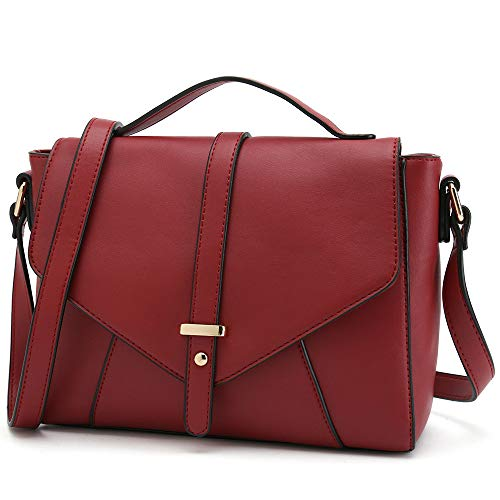 d2a4becf9bdc Ladies Designer Purses Cross Body Handbags Trendy Bags for Women Shoulder  Bags (Red)