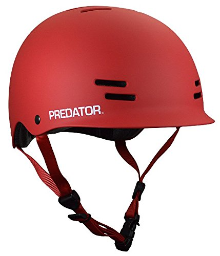 Predator FR7 Certified Skateboard Helmet Matte Red Size M/l