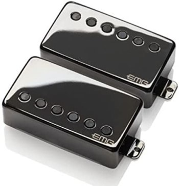 EMG JH James Hetfield Signature Guitar Pickup Set, Black Chrome