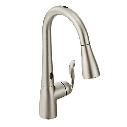 Moen Arbor Motionsense Two-Sensor Touchless One-Handle High Arc Pulldown Kitchen Faucet Featuring Reflex, Spot Resist Stainless (7594ESRS)