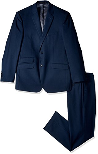 Perry Ellis Men s Slim Fit Suit w Hemmed Pant - Apparel Deals 2315aa014