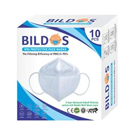 Bildos Melt-blown Fabric Reusable N95 Face Mask With 5 Layered Protection CE, ISO and WHO-GMP Certified (White, Without…