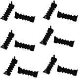 Small 1' No Nail Sawtooth Picture Hangers - Black Oxide 100-Pack