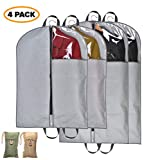 Garment Bags - Clothing protection from dust and moth; storage of dresses, suits and coats for business and leisure travel; clear window covers and strengthened webbing handles for hanging