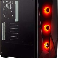 Corsair SPEC-DELTA Carbide Series, RGB Tempered Glass Mid-Tower ATX Gaming Case – Black