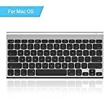 Rechargeable Bluetooth Keyboard for Mac OS, Jelly Comb Ultra Compact Mini Wireless Keyboard Compatible for MacBook, MacBook Air, MacBook Pro, iMac, and iMac Pro - Aluminum Black
