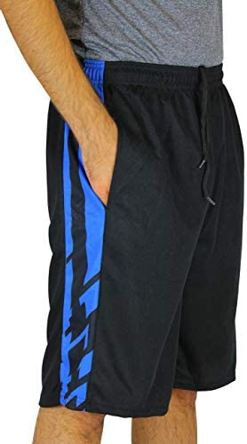 Real Essentials Men's Active Athletic Performance Shorts with Pockets - 5 Pack 2