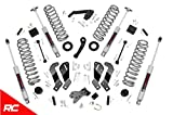 Rough Country 3.5' Lift Kit Compatible w/ 2007-2018 Jeep Wrangler JK 4DR w/ N3 Shocks Suspension System 69430