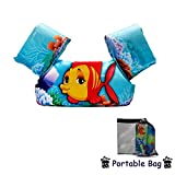 Elejolie Swim Aids for Toddlers,Kids Learn to Swim Life Jacket for Toddlers,Swim Aid Floater Life Vest (Clown Fish)