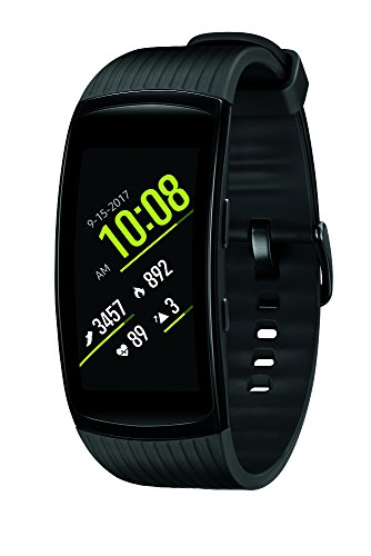 Samsung Gear Fit2 Pro Smart Fitness Band (Large), Liquid Black, SM-R365NZKAXAR – US Version with Warranty