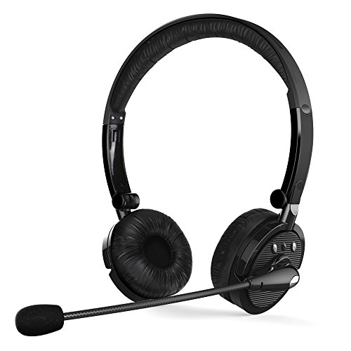 CISNO Over The Ear Wireless Bluetooth Foldable Headset, Noise Cancelling Crystal Clear Headphones with Mic and Volume Control for Trucker Driver, Compatible with iPhone Android MP3/4 TV …
