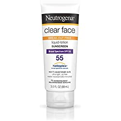 Neutrogena Clear Face Liquid Lotion Sunscreen For Acne-Prone Skin, Broad Spectrum Spf 55, 3 Fl. Oz.