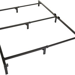 Amazon Basics Metal Bed Frame, 9-Leg Base for Box Spring and Mattress – Queen, 79.5 x 60-Inches, Tool-Free Easy Assembly