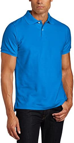 41uAKnZWf5L. AC  - Lee Uniforms Men's Short Sleeve Uniforms Polo, Royal, X-Large #Amazon