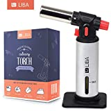 Culinary Torch for Kitchen Cooking Food Butane Blow Torch - Dabbing, Creme Brulee, Grilling (Silver)