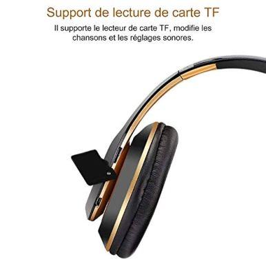 6S-Casque-Bluetooth-sans-Fil-ecouteurs-stereo-sans-Fil-stereo-Pliables-Hi-FI-Ecouteurs-avec-Microphone-integre-Micro-SDTF-FM-pour-iPhoneSamsungiPadPC-Or-Noir
