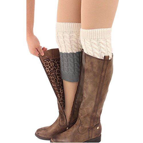 92c10821d FAYBOX Women s Short Leg Warmer Crochet Boot Cover – BNC Discount ...