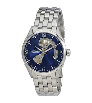 Hamilton Jazzmaster Automatic Open Heart Blue Dial Mens Watch H32705141